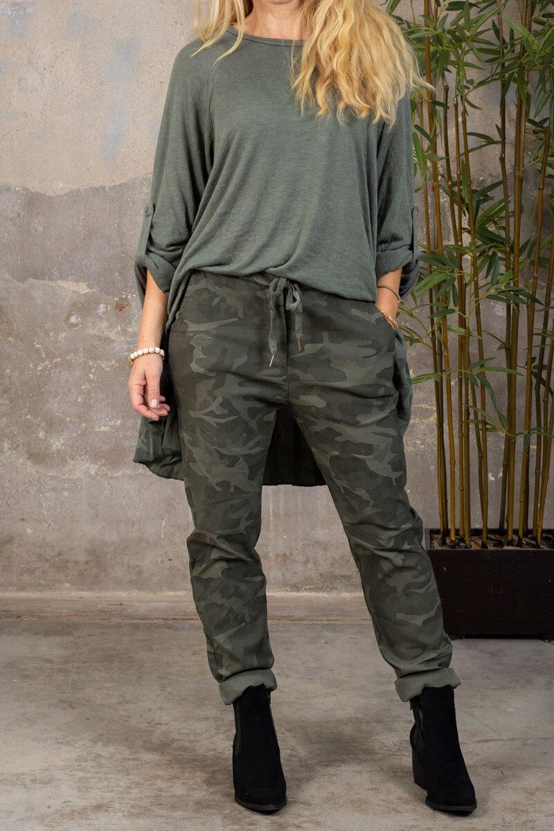 Stretchiga-byxor-2255---Camouflagemonster---khak-hel