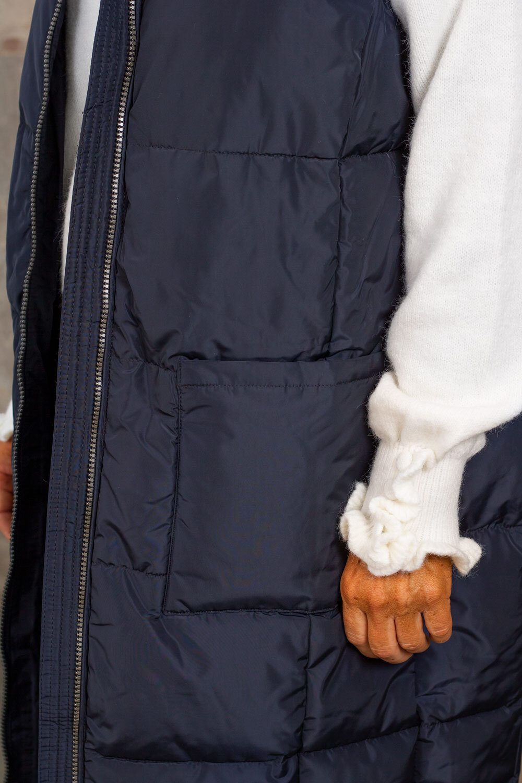 Trixie Lång täckväst - Fickor - Marine