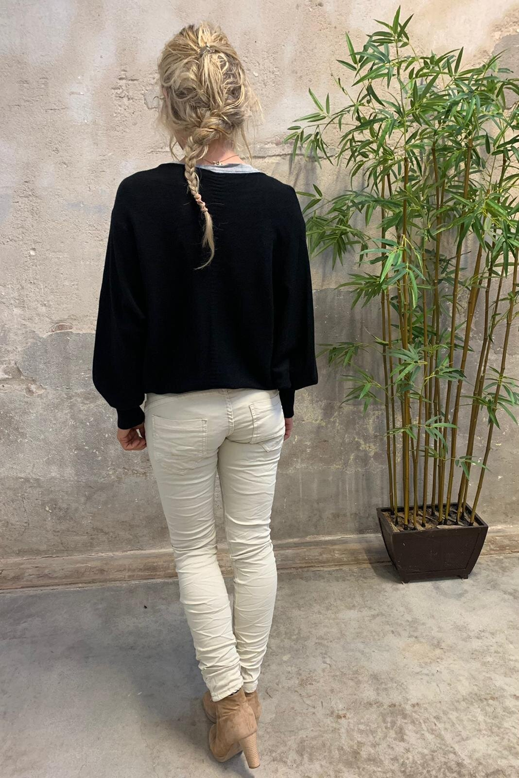 Renee Oversize tröja - Stjärnor - Svart