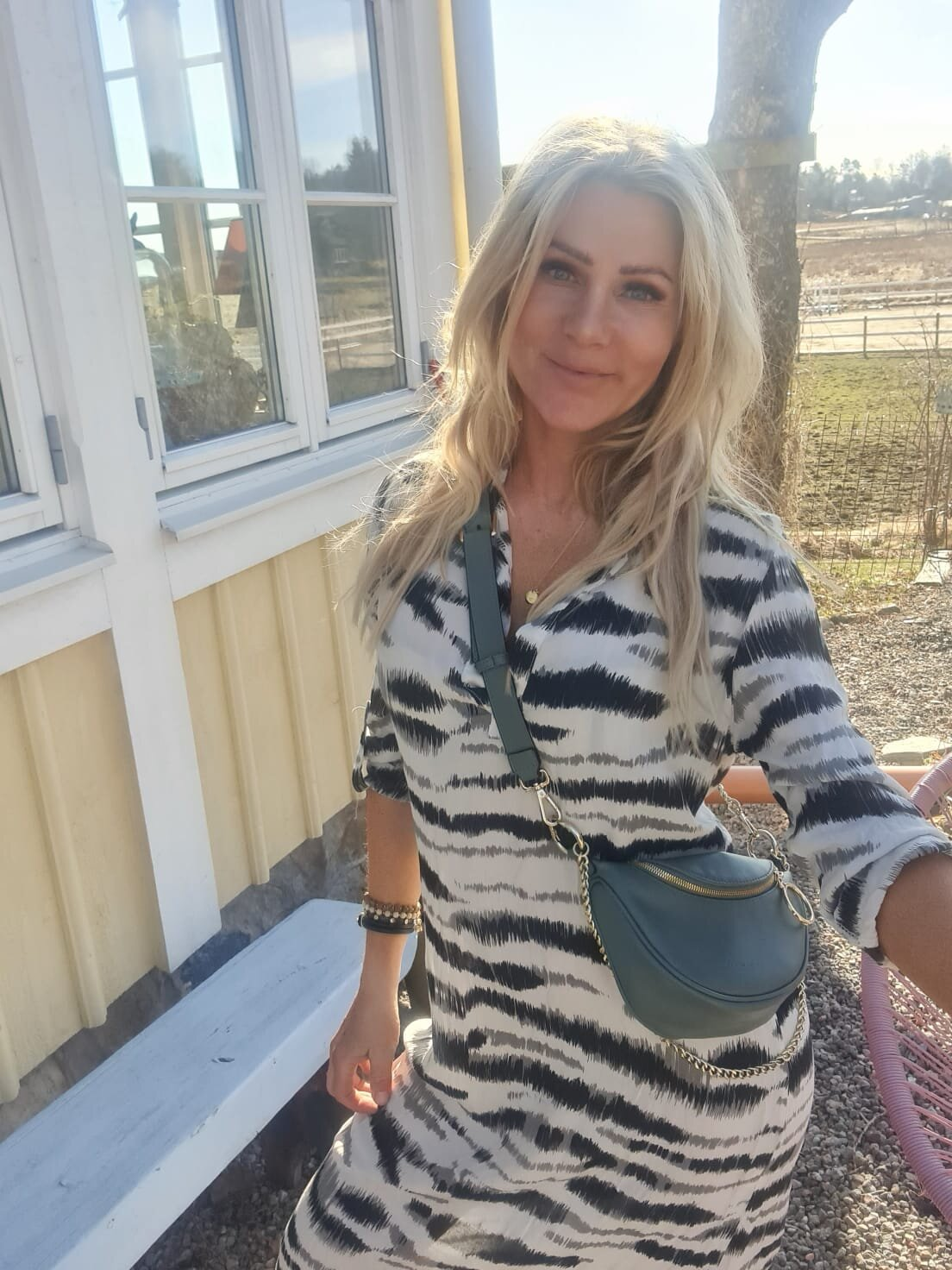 Sandy Långskjorta/Klänning - Zebra - Beige