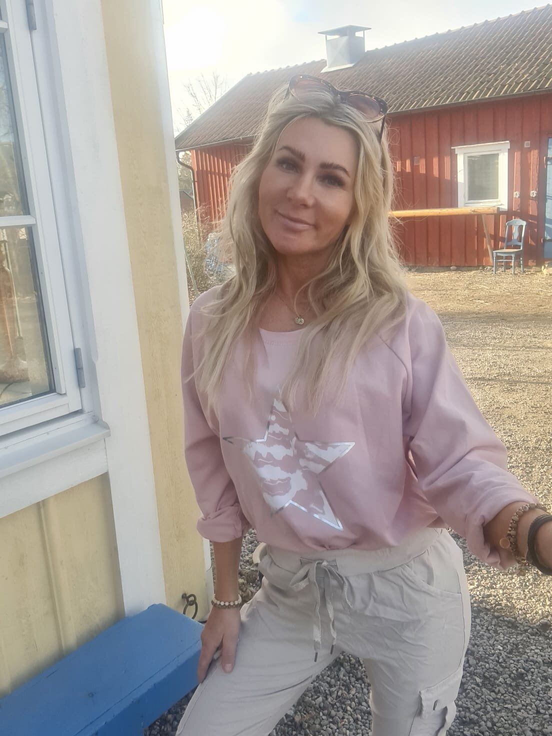 Ulrika tröja - Stjärna & Dragkedjor - Rosa